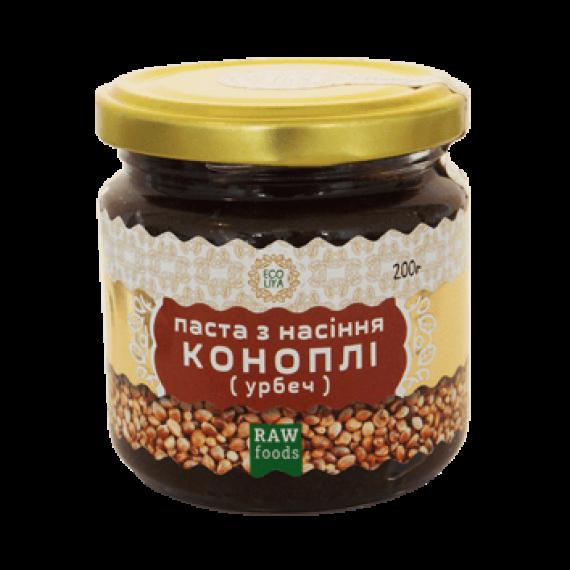 Паста з насіння коноплі (урбеч), 200 г Ecoliya