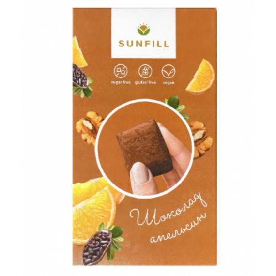 Цукерки шоколадно-апельсиновi , 150г Sunfill