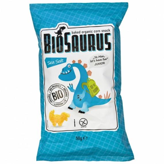 Кукурудзяні снеки з морською сіллю органічні Biosaurus, 50г McLLOYD'S