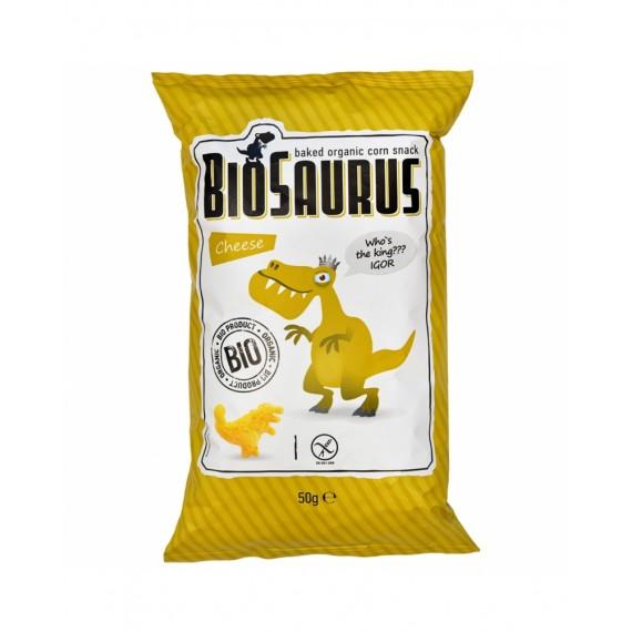Кукурудзяні снеки з сиром органічні biosaurus, 50 г
