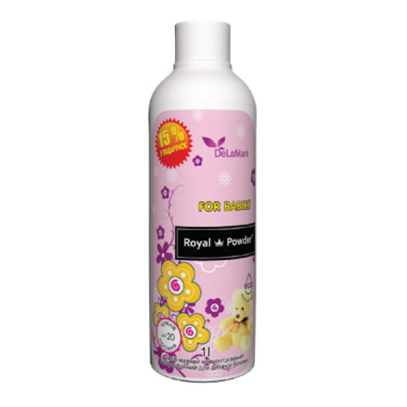 Засіб для прання дитячий Royal Powder, 1 л De La Mark