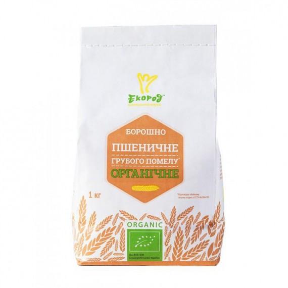 Борошно пшеничне грубого помелу органiчне, 1 кг Екород
