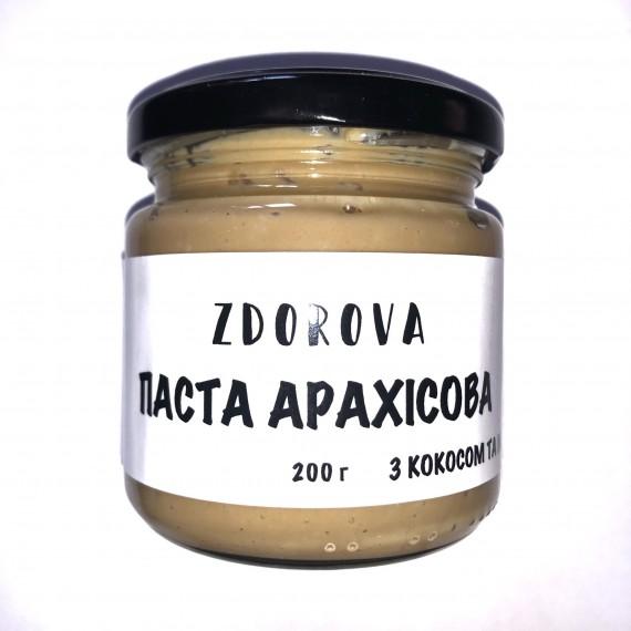 Арахісова паста з кокосом та медом ZDOROVA, 200г