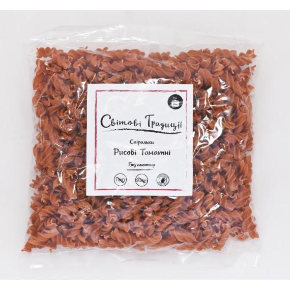 Спіральки рисові томатні 500г, ТМ Світові традиції