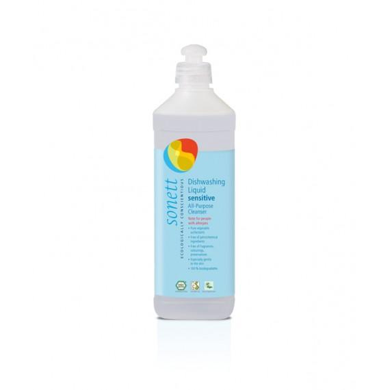 """Органічна рідина-концентрат для миття посуду """"sensitiv», 1л Sonett"""