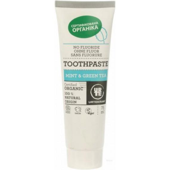 Органічна зубна паста Зелений Чай та М'ята 75мл, URTEKRAM
