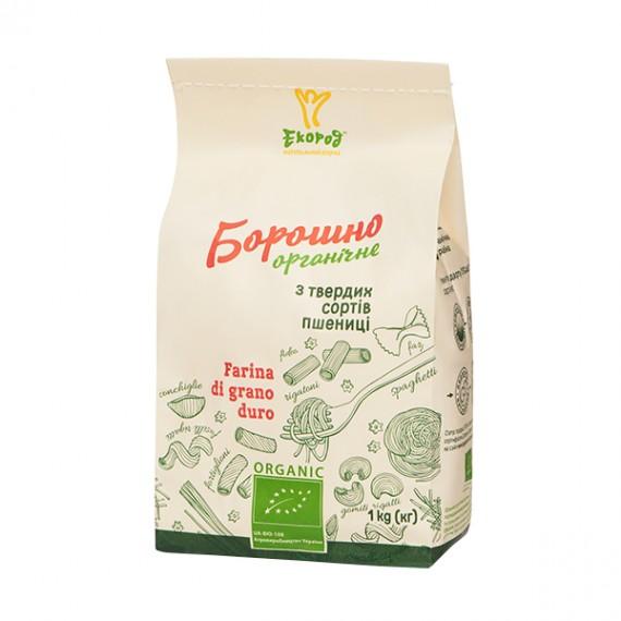 Борошно з твердих сортів пшениці органічне, 1 кг Екород