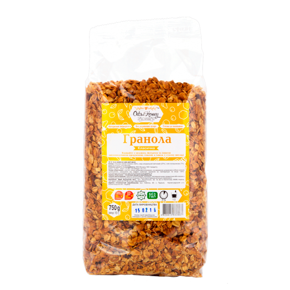 Гранола класична, 750 г Oats & Honey